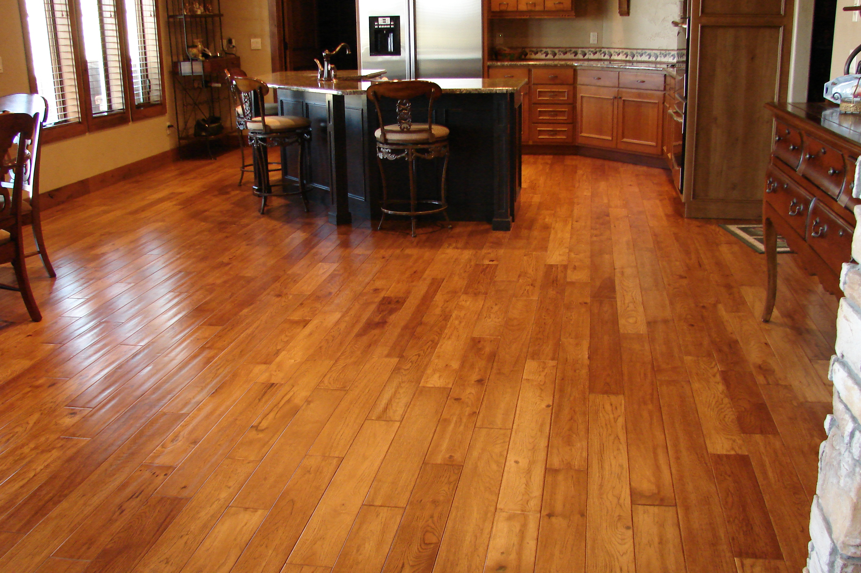 Big Kitchen Hardwood Floor