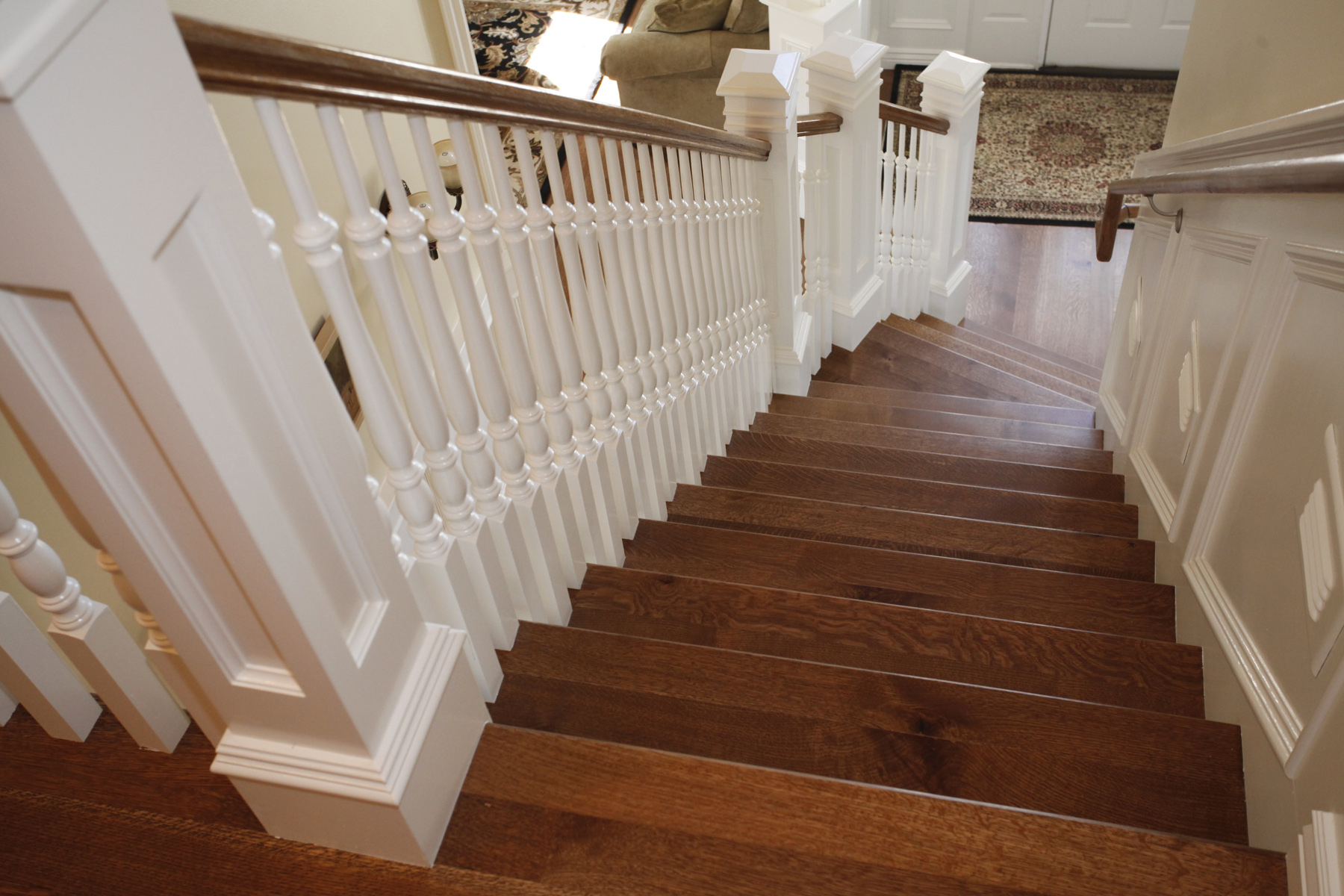 Carson s custom hardwood floors utah hardwood flooring for Hardwood floors on stairs