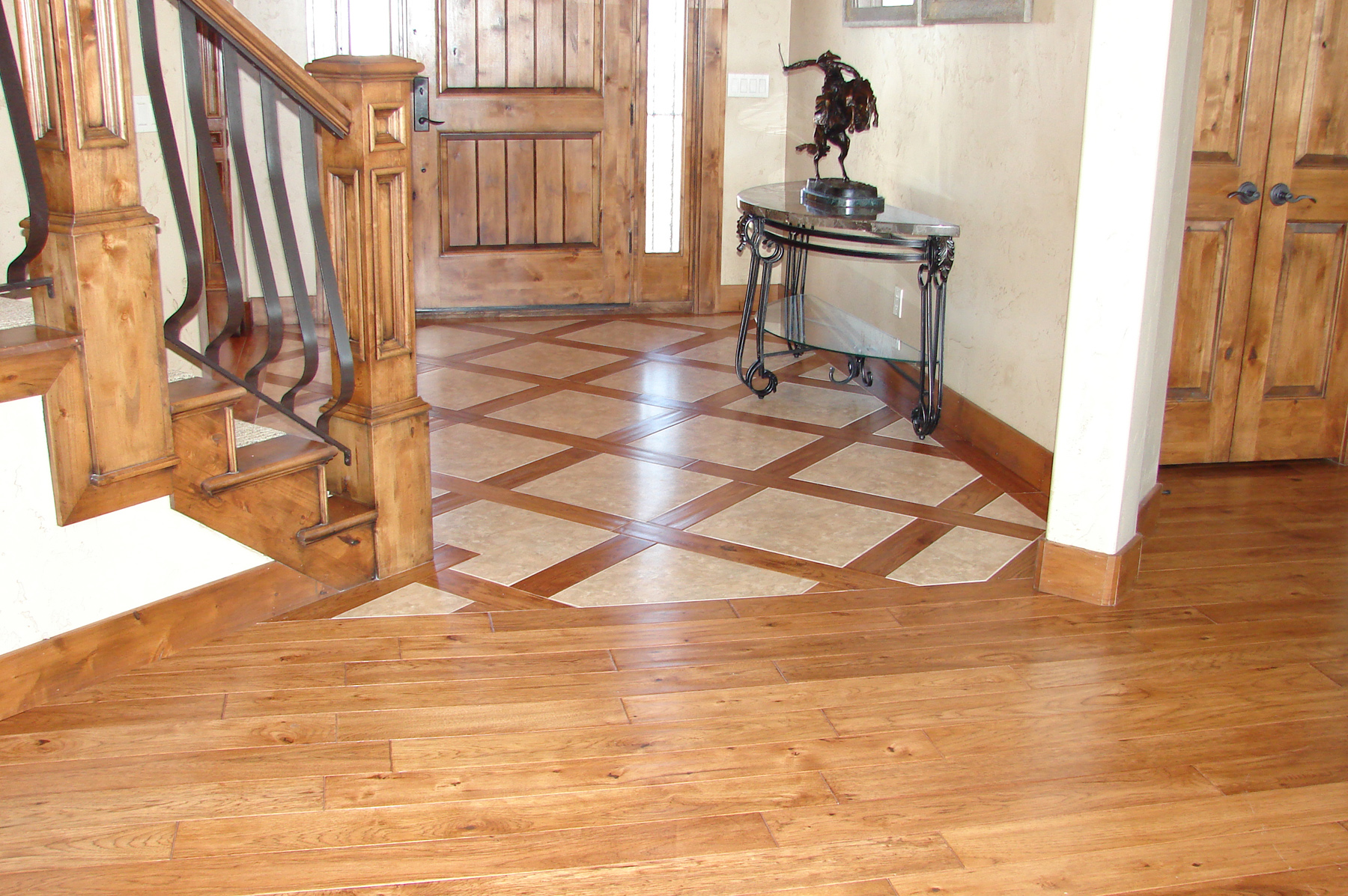 Carson s custom hardwood floors utah hardwood flooring for Tile and hardwood floor