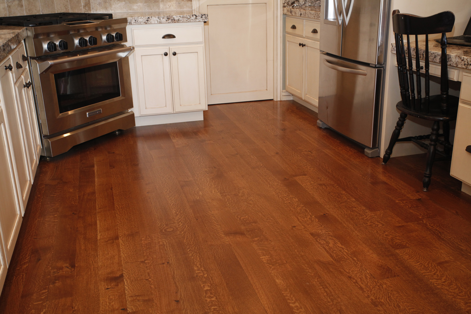 Carson s custom hardwood floors utah hardwood flooring for Wood floors in kitchen