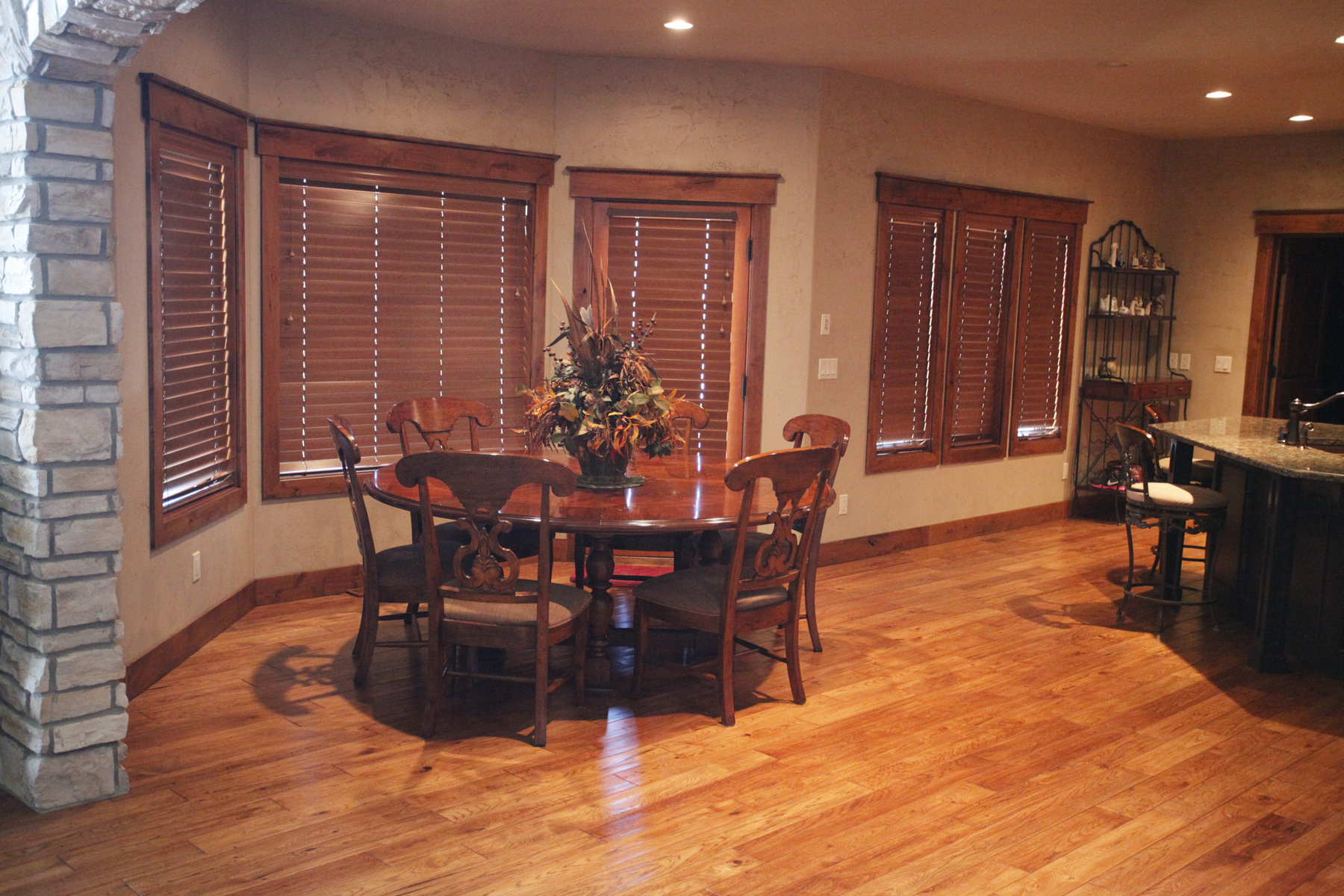 Large Kitchen Hardwood Floor