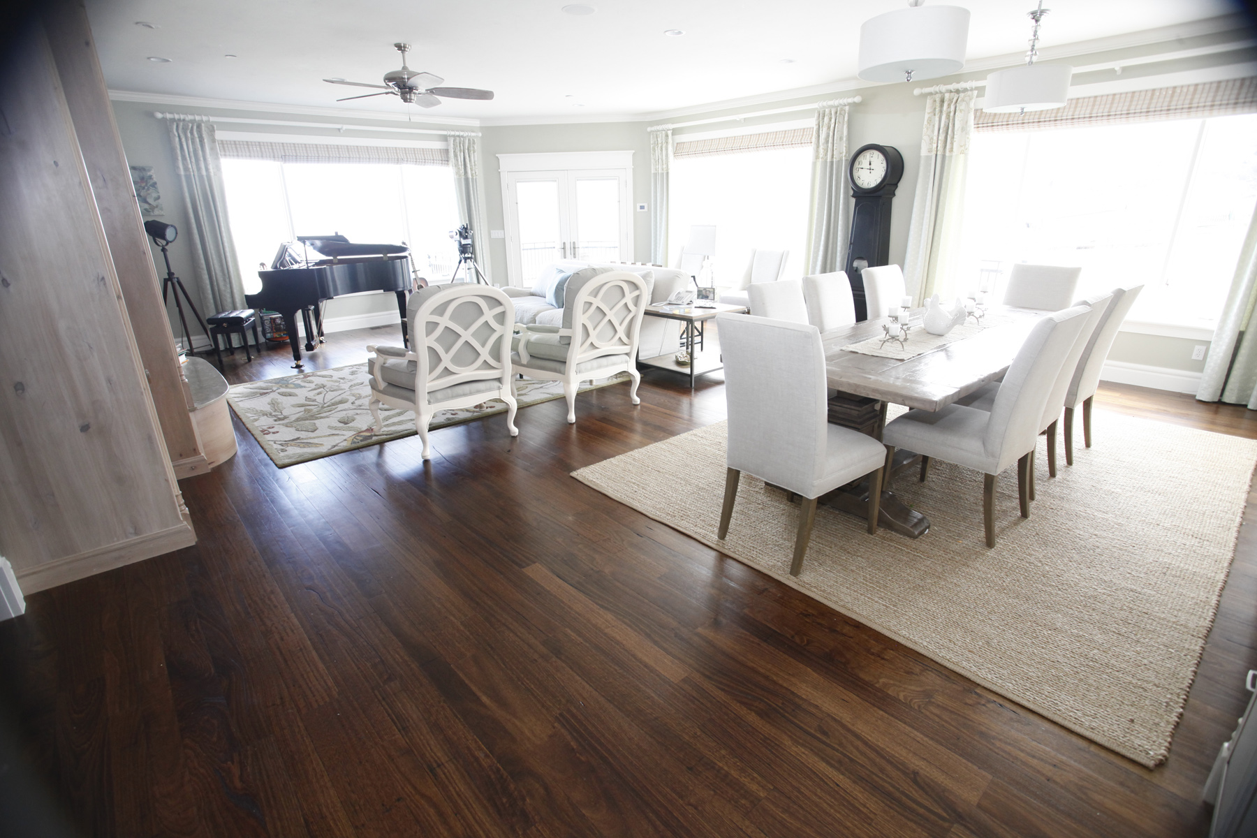 Carson s custom hardwood floors utah hardwood flooring rooms for Living room with wood floors