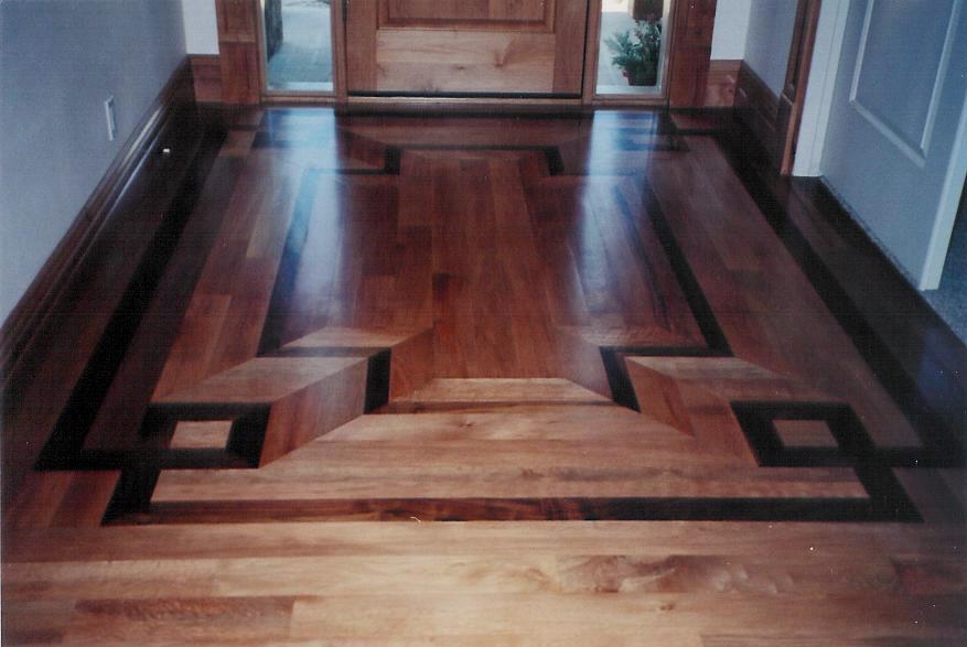 Pattern Hardwood Floor Decoration